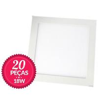20 Painel Plafon Luminaria Sobrepor Teto Led Quadrado 18w