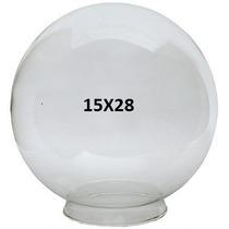 Globo De Vidro P/iluminação Transparente 15x28