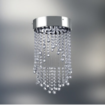 Pendente Lustre Plafon Cristal Asfour Ø23 Luminária Golden