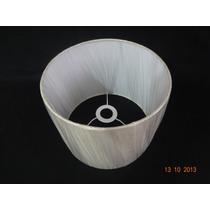 Kit 1 Cúpula Cilíndrica Tecido 40x40x30 1 Pendentes C/ Bocal