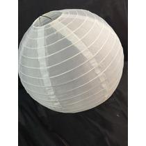 Luminária De Tecido Japoneses Oriental 30cm Branca