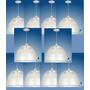 Kit C/ 10 Luminária Prismática Pendente 16 Frete Grátis