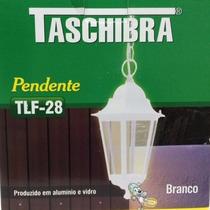 Luminária Pendente Colonial Taschibra Tlf 28 Branca