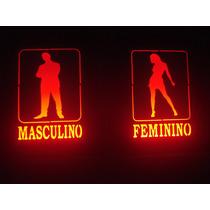 Luminoso Luminária Bar Banheiro Masculino E Feminino