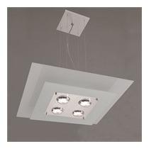 Kit 1 Lustre 4 Lâmpadas Branco +3 Arandelas + 2 Plafon