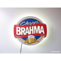 Painel Luminoso Em Led Cerveja Brahma Luminária Bar