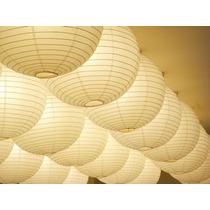 Luminária Lamparina Lanterna Japonesa Papel Nylon Branca