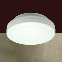 Luminária Plafon Em Vidro Leitoso Ø31 Branco Lustre - Gda