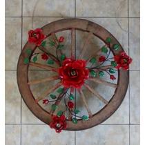 Ca10516 - Lustre Roda De Carroça Pequena Com Florão