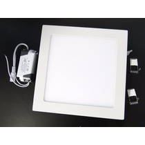 Luminaria Plafon Led 25w Embutir Teto Led Quadrado Gesso