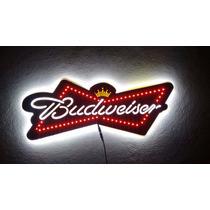 Placa Luminoso Budweiser Bar 60cm !!! Frete Grátis