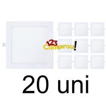 Kit 20 Painel Plafon Luminaria Ultra Led Quadrado Slim 18w