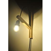 Luminária Pendente De Parede Em Madeira 24x17cm