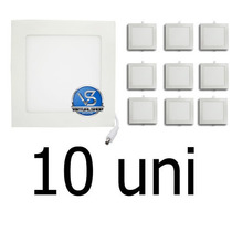Kit 10 Painel Plafon Led 18w Embutir Luminaria Spot Led