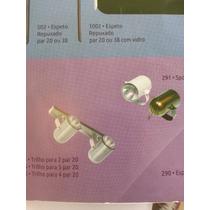 Kit 2 Spot Sobrepor Trilho Para 4 Lâmpada Pa20 Comum Ou Led.
