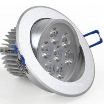 10x Spot 7w Super Led Branco Puro Aluminio Escovado