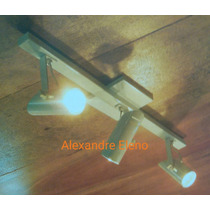 Kit 5 Spot Trilho Teto Para 3 Lâmpada Dicróica Comum Ou Led.