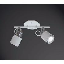 2 Spots Flex Alumínio Trilho P/ 2 Lâmpadas E27 - Cód 418-2