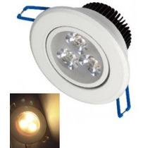 Spot Led Branco Luz Quente Direcionável 3w Sanca Gesso Teto
