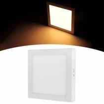 Plafon 18w Branco Frio Led Quadrado Teto Sobrepor Kit 10 Uni