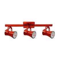 2 Spots Sobrepor Trilho 50cm P/ 3 Lâmpadas E27 - Cód. 376-3