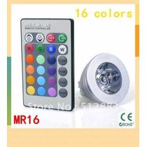 Kit 10 Lâmpadas Spot Led 16 Cores Rgb E27 + Controle