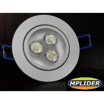 10 Spot Led 3 Watts Branco Frio Bi-volt Croica Direcional