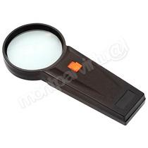Lupa De Mão 90mm Com Luz - Lente De Vidro