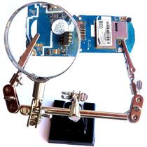 Lupa Com Suporte Pinça Garra Para Placa Eletrônica Celular
