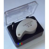 Lupa Conta-fios 40x 25mm C/ 2 Leds Relojoeiro Ourives 40x25