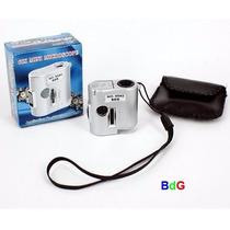Mini Microscópio Lupa Contafio 60x Luz Branca/uv Frete R$ 12