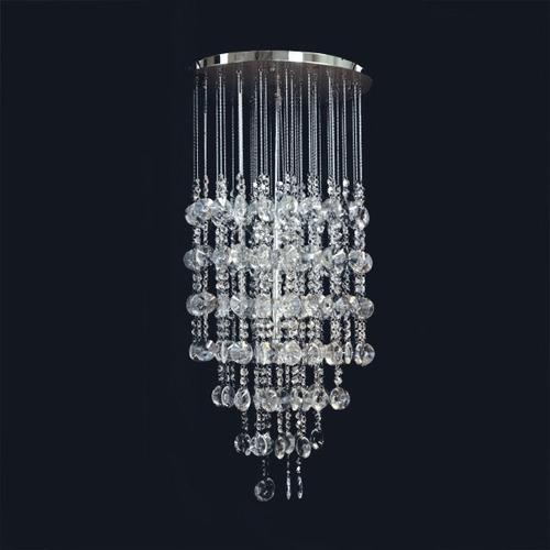 Lustre de cristal redondo 40 pendente sala quarto r for Cristal redondo para mesa