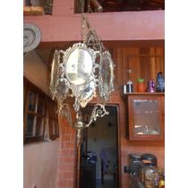 Lustre Antigo Espelhado E Jateado 1 Lampada