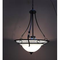 Lustre Pendente Com Cupula Murano Branco (cod 60126 )