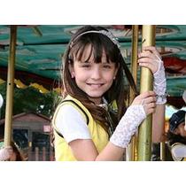 Luvas Infantil Mitene Renda Princesinha Damas Fantasia Festa