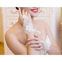 Luva De Noiva /15 Anos Renda Com Cristal Linda Pronta Entreg