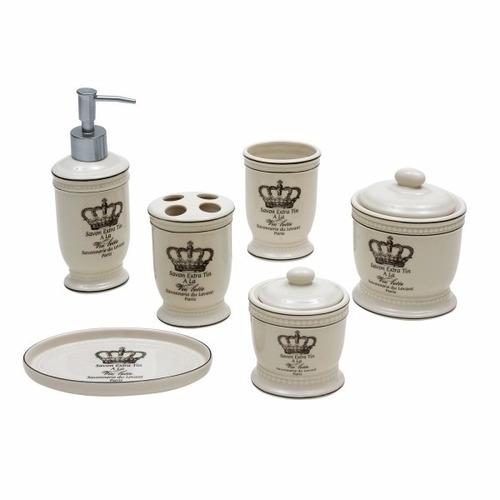 Kit Banheiro Porcelana : Luxuoso kit de porcelana para banheiro c pe?as r