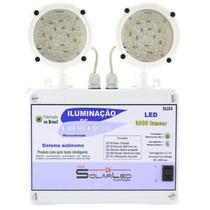 Luminária De Emergência Led 2000 Lumens Bloco Autônomo