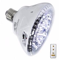 Luminária Lampada De Emergência Branca 24 Leds Com Controle