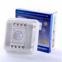 Luminária 8 Leds Sensor De Presença