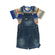 Macaquinho Jeans Infantil Masculina Tamanho 6