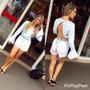 Macaquinho Lady Rock Jeans - Roupas Femininas