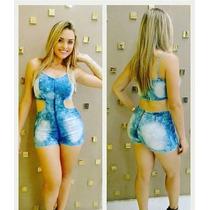 Macaquinho Jeans Feminino Com Lycra Pmg Maravilhoso!