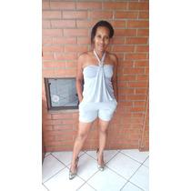 Roupas Feminina Macacão Macaquinho Curto Preto Branco Barato