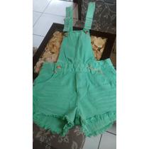 Jardineira Verde Cia Fashion