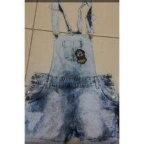 Jardineira Macaquinho Jeans Plus Size Tam Do 46 Ao 54!