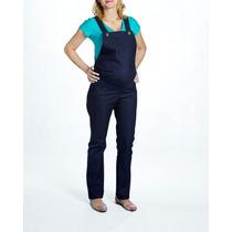 Macacão Jeans Skinny Gestante