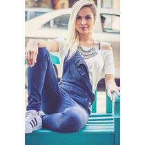 Macacao Jeans Feminino Revanche