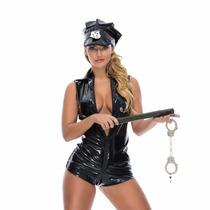 Fantasia Feminina - Policial - Pronta Entrega