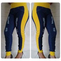 Kit Atacado 5 Peças - Calça Jeans Feminina Com Moletom